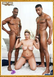 BLACK MEN ARE FUCKING WITH A BIG BOOBED WHITE MODEL BROOKLYN CHASE